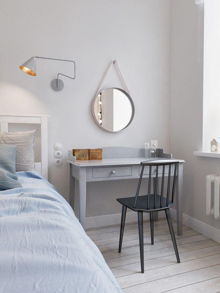 Фотография: Спальня в стиле Скандинавский, Квартира, Дома и квартиры, Проект недели, квартира в питере, квартира в санкт-петербурге – фото на InMyRoom.ru