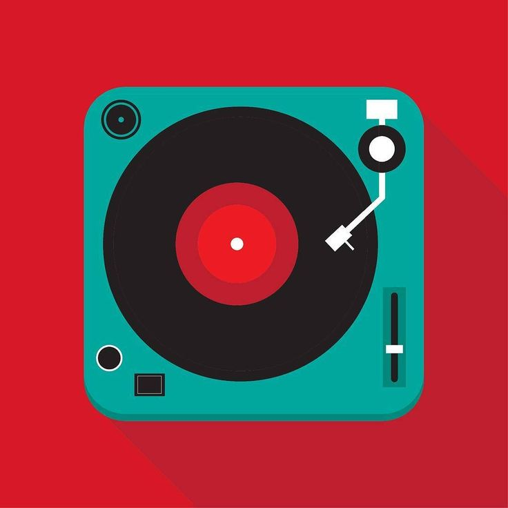 Flat record player illustration  #illustration #flat #record #vinyl…