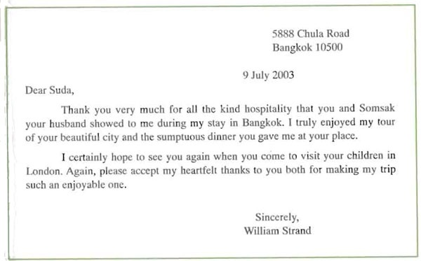 condolence letter thank you