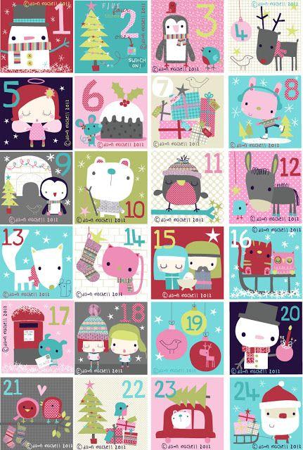 Dawn Machell Advent 2012 calendar