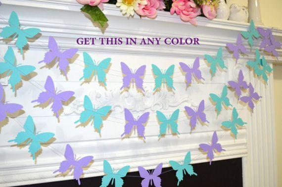 Butterfly garland bruiloft garland van DCBannerDesigns op Etsy