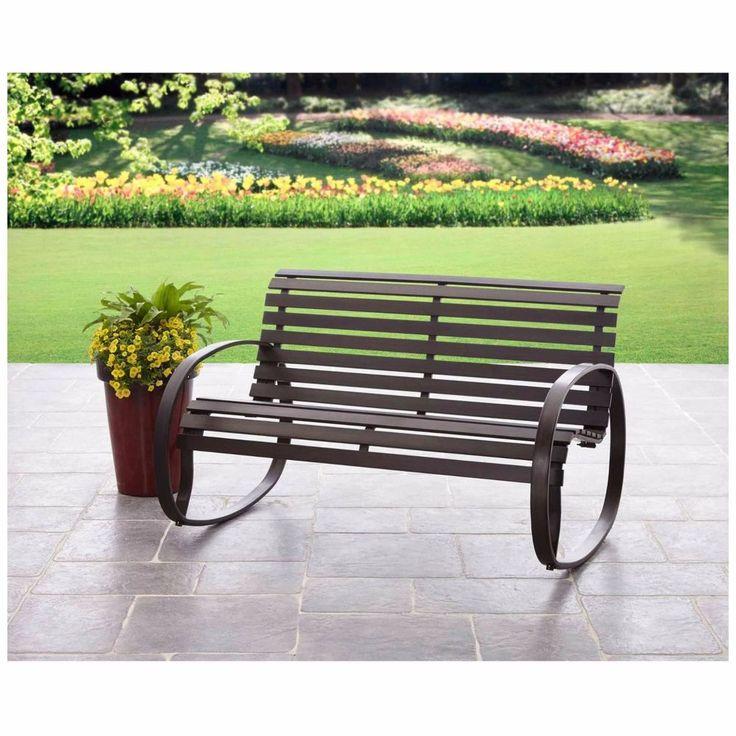 park bench rocker patio garden outdoor porch furniture garden clearance new