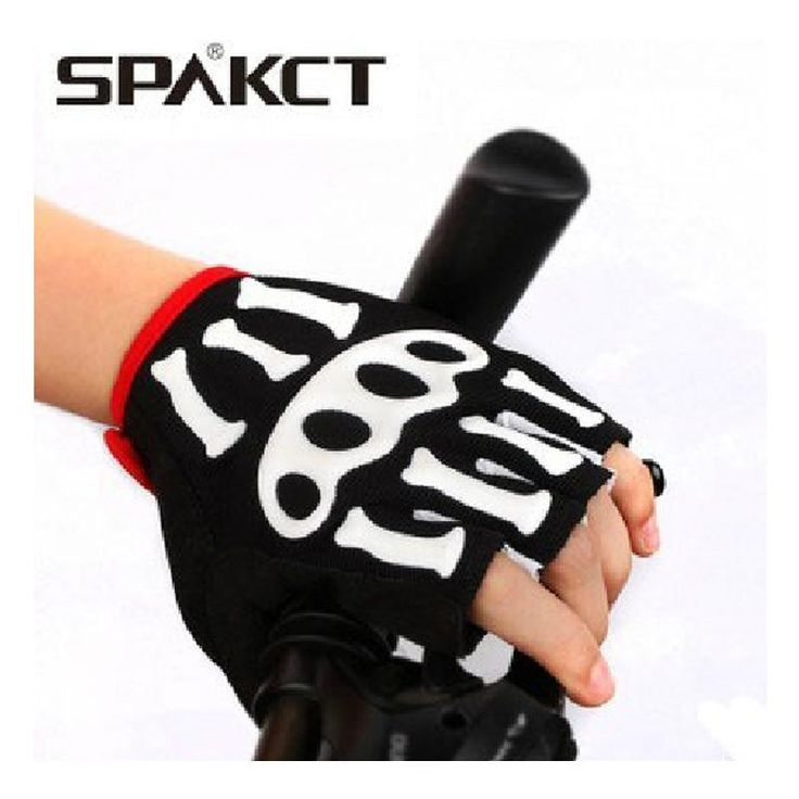 Short gloves spakct3D skeleton joints Men's and women's bicycle mountain bikes and equipment Riding a half gloves