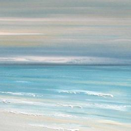 Beach Decor Artwork - Ocean Calm - tropical - artwork - montreal - Etsy / Francine Bradette $40