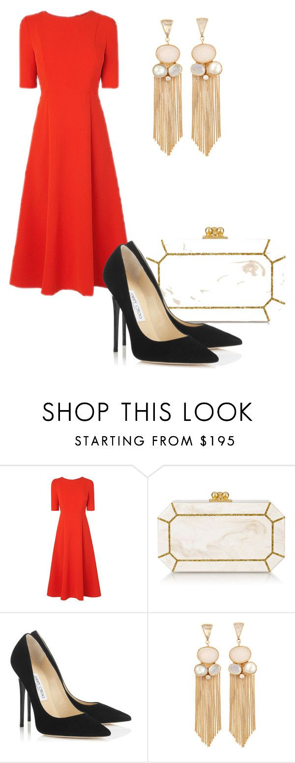 """Без названия #474"" by svetlana-kazantsewa on Polyvore featuring мода, L.K.Bennett, Edie Parker и Jimmy Choo"