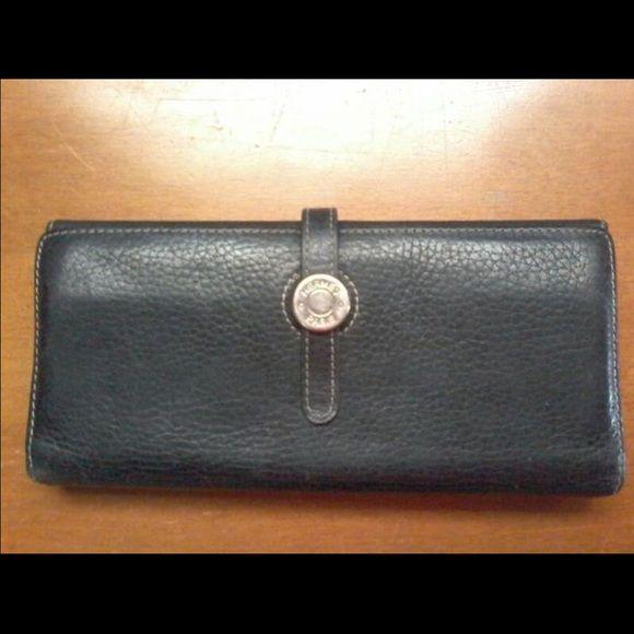 BLACK LEATHER AUTHENTIC HERMES WALLET Beautiful Hermes wallet Hermes Bags Hobos