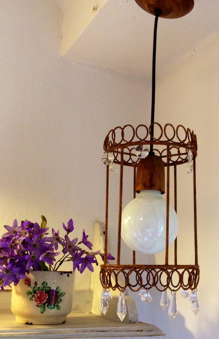 lamparas de hierro oxido o color en