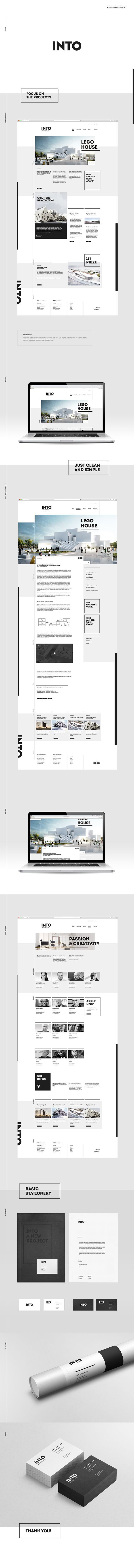 INTO | architecture office concept on Web Design Served More
