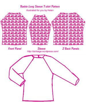 DIY –T Shirt Pattern For Barbie « Helen's Doll Saga