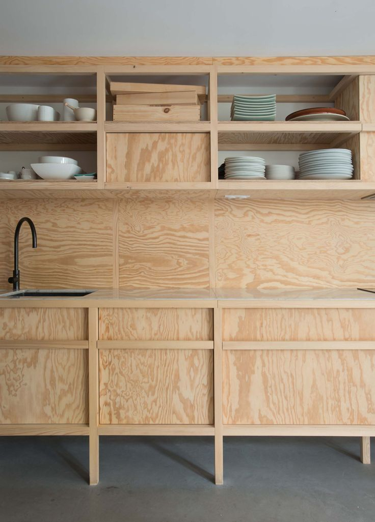 Very cool and modern plywood kitchen.   #kitchen #küche #plywood