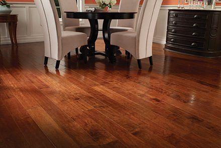 Dark Auburn Maple in Mohawk Flooring Hardwood  Home
