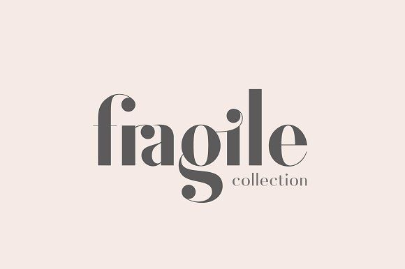 Fragile Collection (Font Bundle) by Josh O. on @creativemarket #font #typeface #elegant