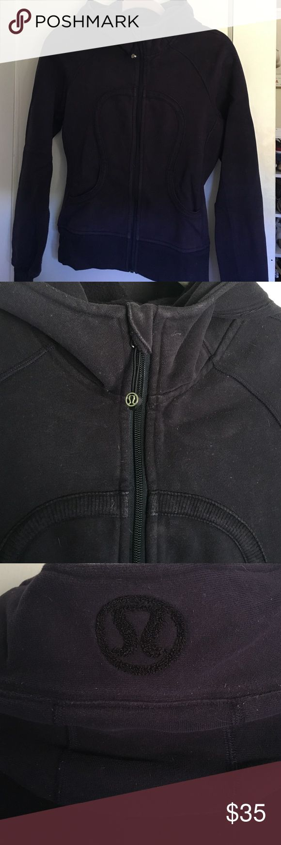 Lululemon scuba hoodie lululemon scuba hoodie, size 6, color is a worn in deep purple. good condition but does have more of a faded look (even when brand new), price reflects wear. cozy! lululemon athletica Sweaters