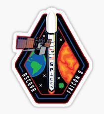Deep Space Climate Observatory (DSCOVR) Launch Logo Pegatina
