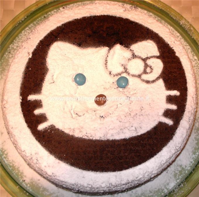 torta al cioccolato hello kitty semplicemente senza. Black Bedroom Furniture Sets. Home Design Ideas