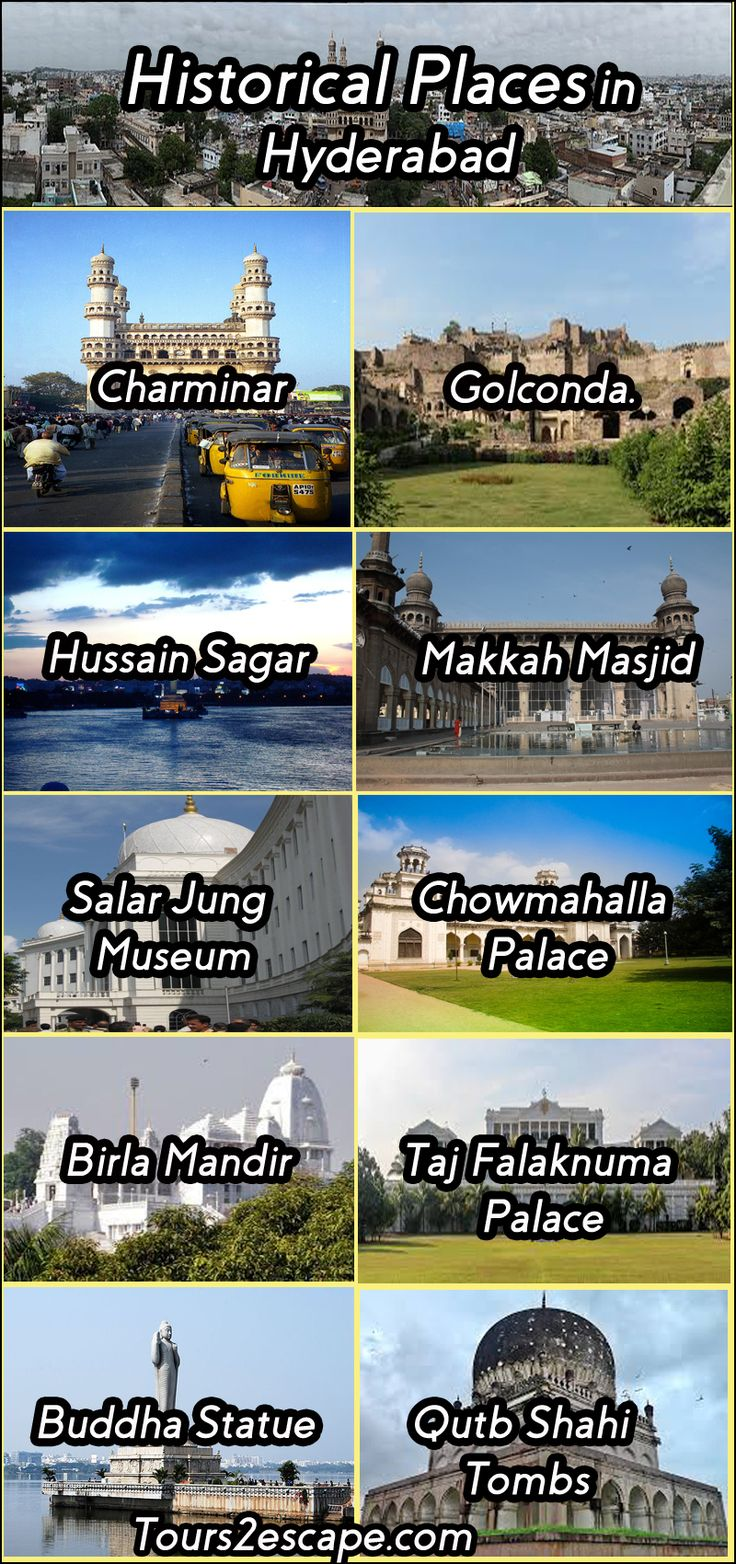 Historical Places in Hyderabad #hyderabad #charminar #historicalplacesinhyderabad  http://www.tours2escape.com/10-historical-places-in-hyderabad/