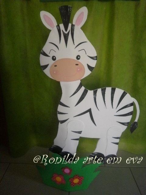enfeite de chão zebra 1 metro