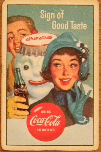 Vintage Coke brand advertising!  SnowMan!