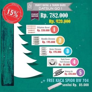 Datsun Go1 Paket Natal & Tahun Baru Dari Pak Bahar 15%   http://www.variasimobil.co.id/index.php?route=product/product&path=216&product_id=294  http://www.variasimobilku.com/product/0/1850/Paket-Natal-Tahun-Baru-Datsun-Go