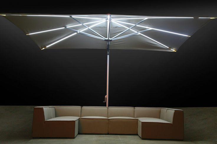 Image result for cantilever parasol lights