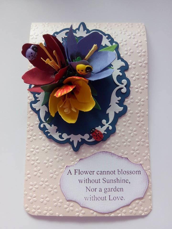Tulip card - Susan's Garden die-cut