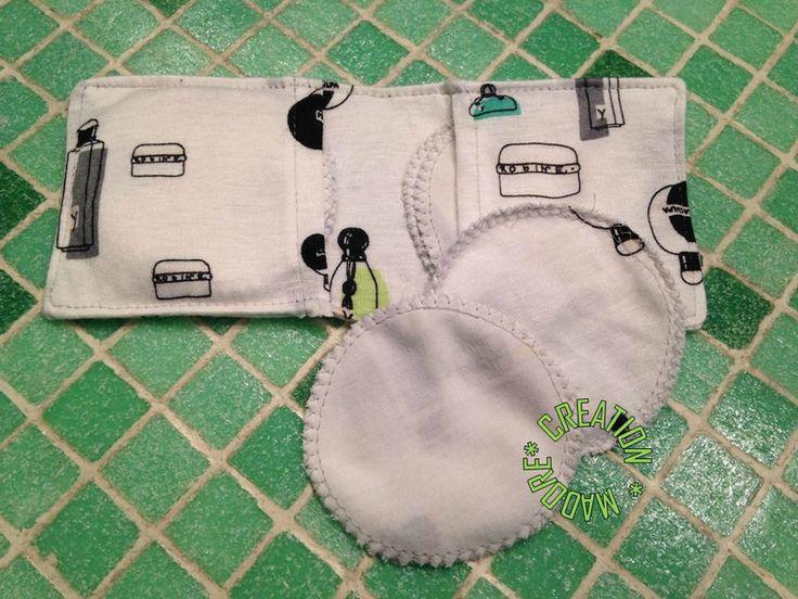 Création Madorée Coton Demaquillant Lavable avec son étui, 100% coton