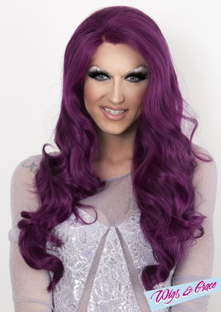 PURPLE APHRODITE - Wigs and Grace , drag queen wig, drag queen, lace front wig, high quality wig, rupauls drag race wig, rpdr wig, kim chi wig