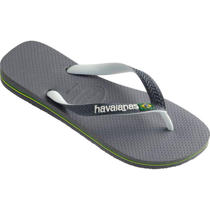 Havaianas Men's Brazil Mix Flip Flops, Gray