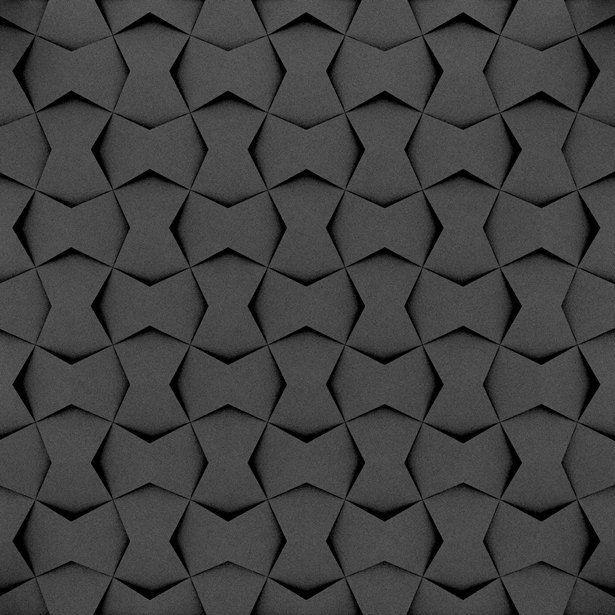 Fluffo, Fabryka Miękkich Ścian. Miękkie panele ścienne 3D, wzór CHAIN, opcje ułożenia.