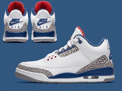 Air Jordan 3 Retro III OG True Blue Men Shoes