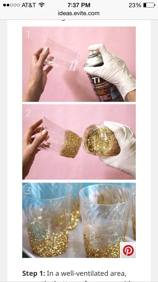 Glitter cups