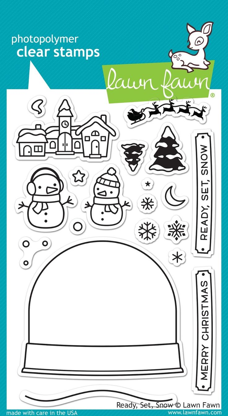 the Lawn Fawn blog: Fall & Winter 2015 Sneak Week - Day 4 Ready Set Snow stamp