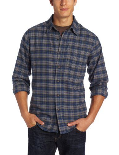 Camping Hiking Mens Clothing Royal Robbins Lonepine Flannel Longsleeve Shirt Marine