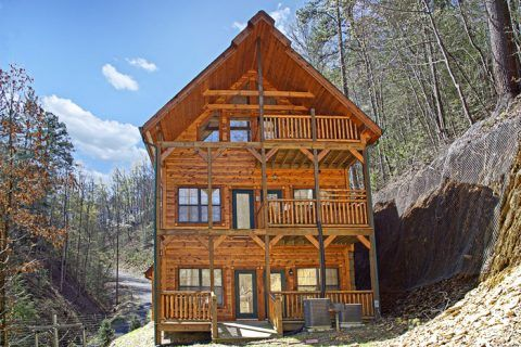 """Looking for secluded cabins in Pigeon Forge? """"2 Good to be True"""" provides the perfect opportunity for a family seeking a cabin rental with theater room. Share movies and memories in an actual theater style setting with plush theater seating, all in the privacy of this Smoky Mountains retreat! #fun #mountain #view #cabin"""