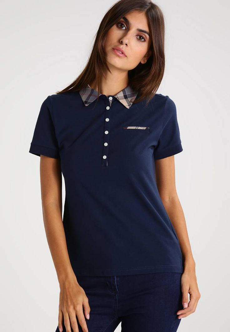 """Barbour. MOLLARD - Polo shirt - navy. Fit:tailored. Our model's height:Our model is 70.0 """" tall and is wearing size 10. Outer fabric material:94% cotton, 6% spandex. Care instructions:machine wash at 40°C,do not tumble dry. Length:norm..."""