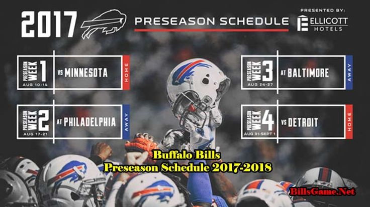 Buffalo Bills Games Schedule 2017 | billsgame.net