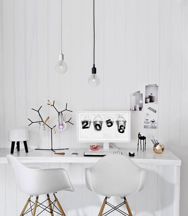 Oficina minimalista escandinava de Katerina Dima | Little*Haus Katerina Dima's minimal and Nordic home office