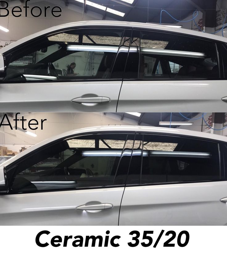 3M Ceramic window tint 35/20 on BMW X6 before and after