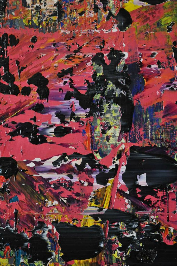 Abstract painting (detail) by Jakob Weissberg, 2014, oil on canvas, 120x100cm, detail