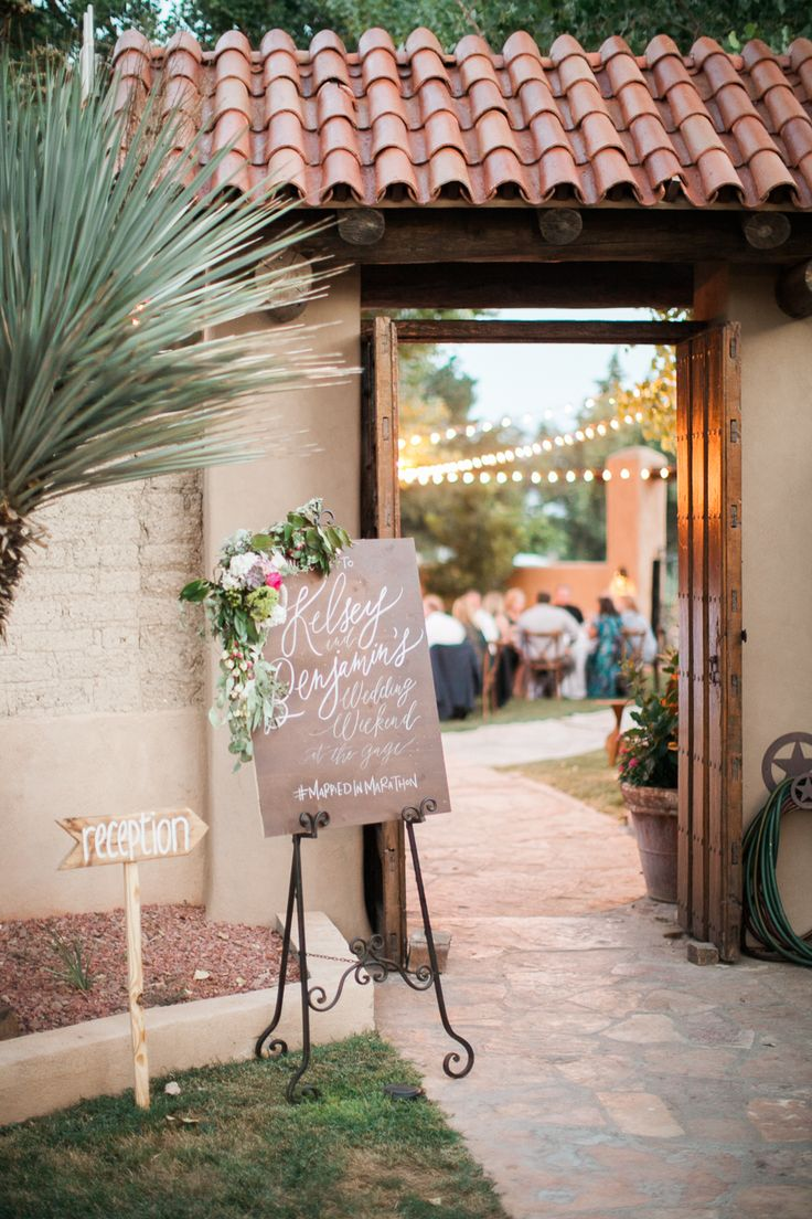 intimate colorful outdoor wedding at gage hotel - Rustic Hotel 2015