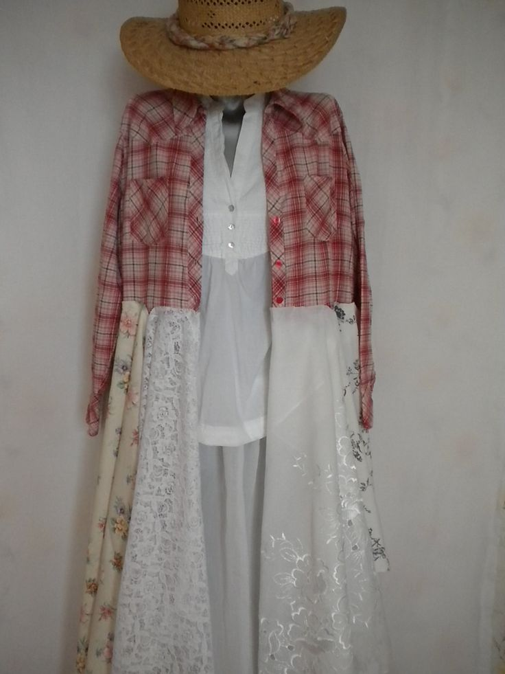 shabby chic mori girl layering boho romantic dress coat by EcoFriendlyCouture on Etsy