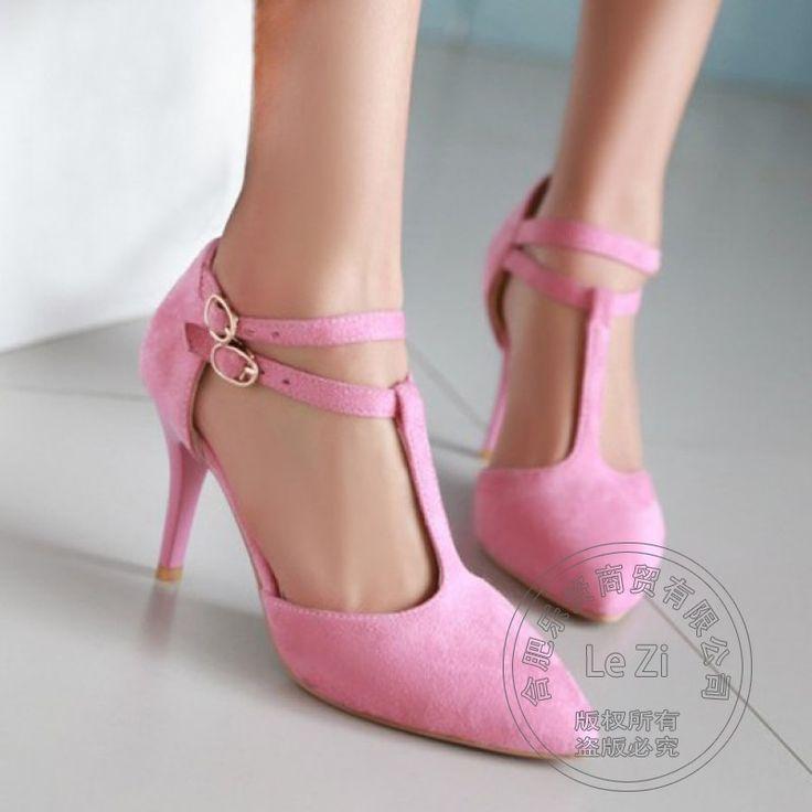 Schnalle China Für Frauen Frauen Schuhe Heels heels Schuhe Haspe Spool ferse Ankunft Freizeit Purple Heels Schuhe Größe 34 T Gurt Billig //Price: $US $29.02 & FREE Shipping //     #cocktailkleider