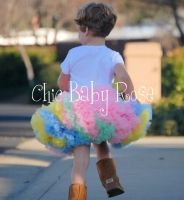 Chic Baby Rose Pettiskirt - fluffy and butter soft. Handmade in the USA.