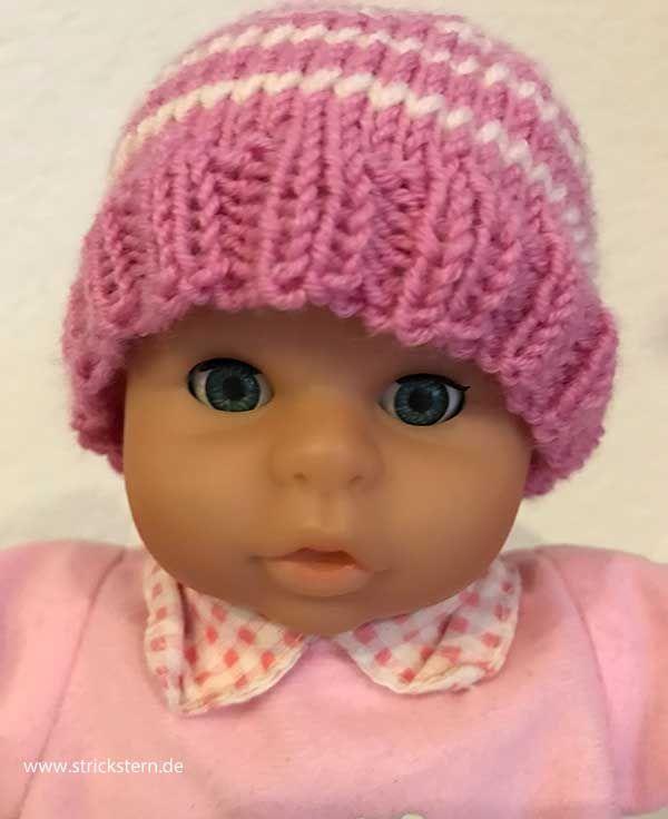 Puppenmütze stricken   Puppenschuhe, Stricken und Mütze stricken