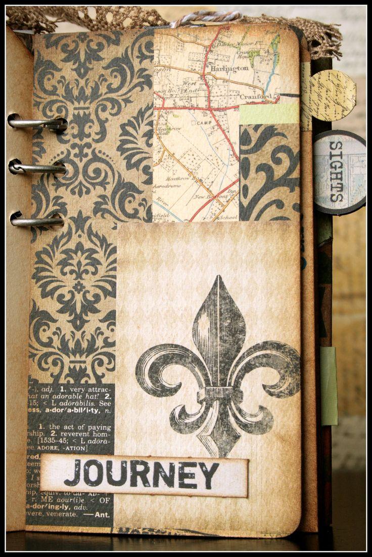Journey scrapbook ideas - Mini Travel Journal Book Album Scrapbook Com