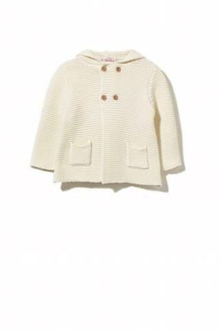 Baby girls cream knit jacket from Milky. Just devine.....