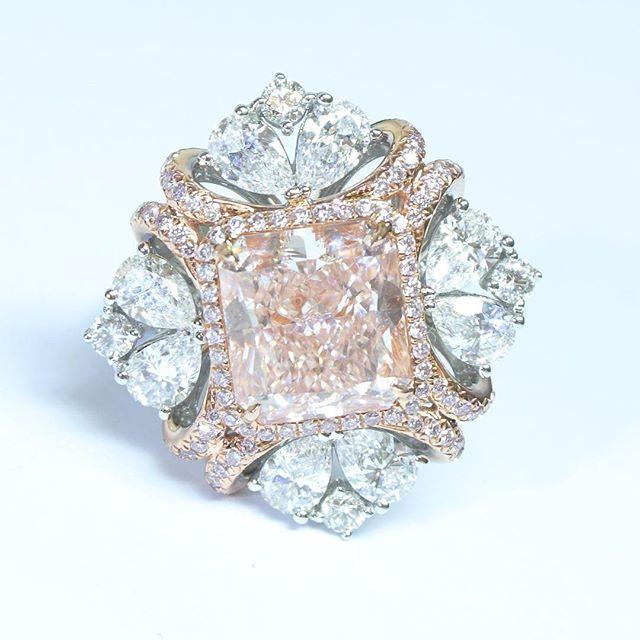 Edelman Diamonds. 5ct Fancy Light Pink 18K Diamond Ring #diamond #diamondring…