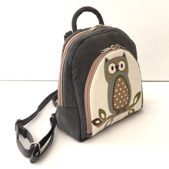 Handmade Backpack  mini backpack  denim backpack  luggage