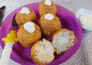 Resep Anak: Cheesy Chicken Balls
