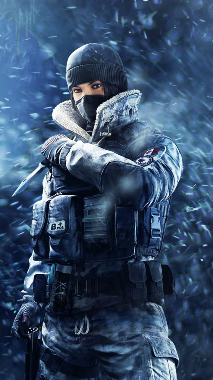 Tom Clancy S Rainbow Six Siege Girl Soldier Frost Game 720x1280 Wallpaper With Images Tom Clancy S Rainbow Six Rainbow Six Siege Art